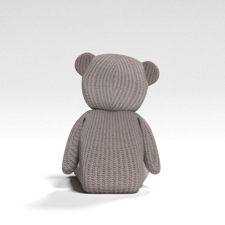 Urso recheado royalty-free 3d model - Preview no. 2