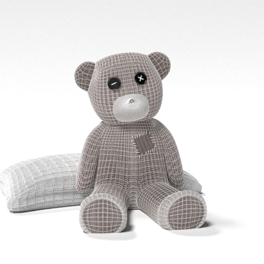 Urso recheado royalty-free 3d model - Preview no. 5