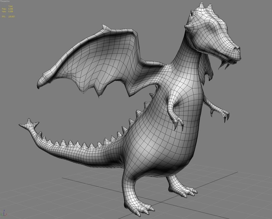 LOW POLY 3D DRAGON MODEL 3D Model $10 -  unknown  max  obj