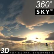 Sky 3D Sunset 015 3d model