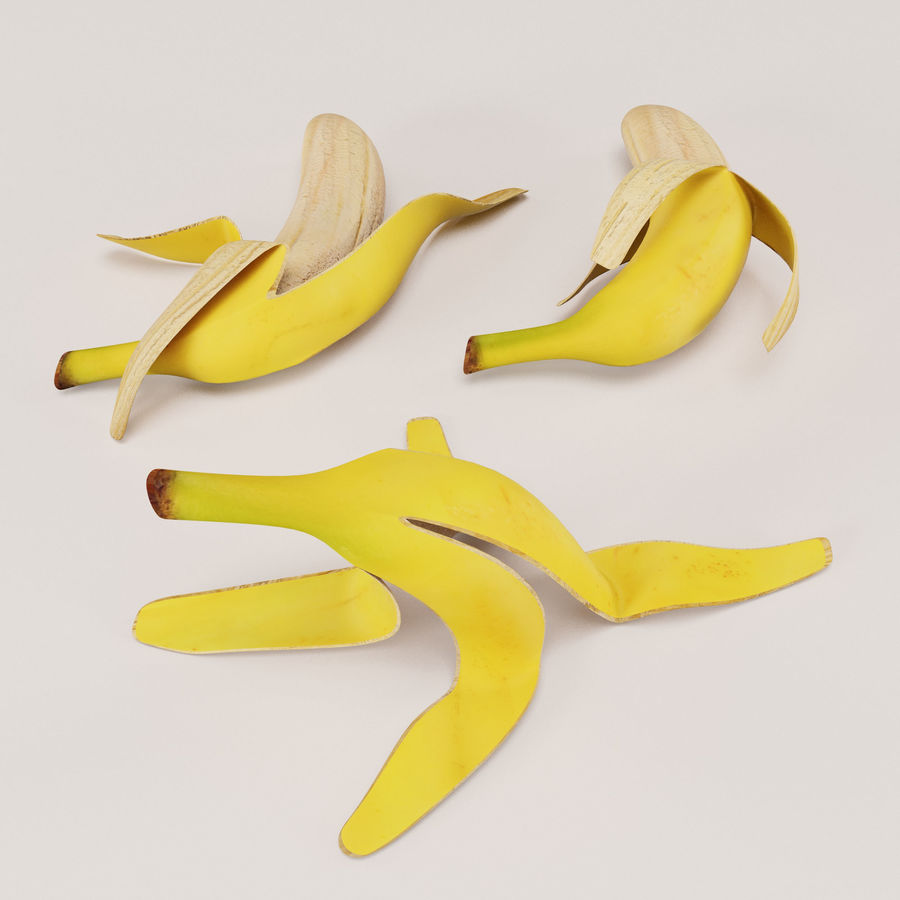 Banana Peels royalty-free 3d model - Preview no. 7