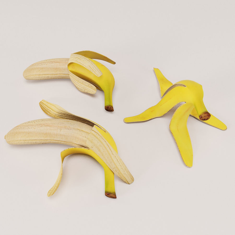 Banana Peels royalty-free 3d model - Preview no. 3