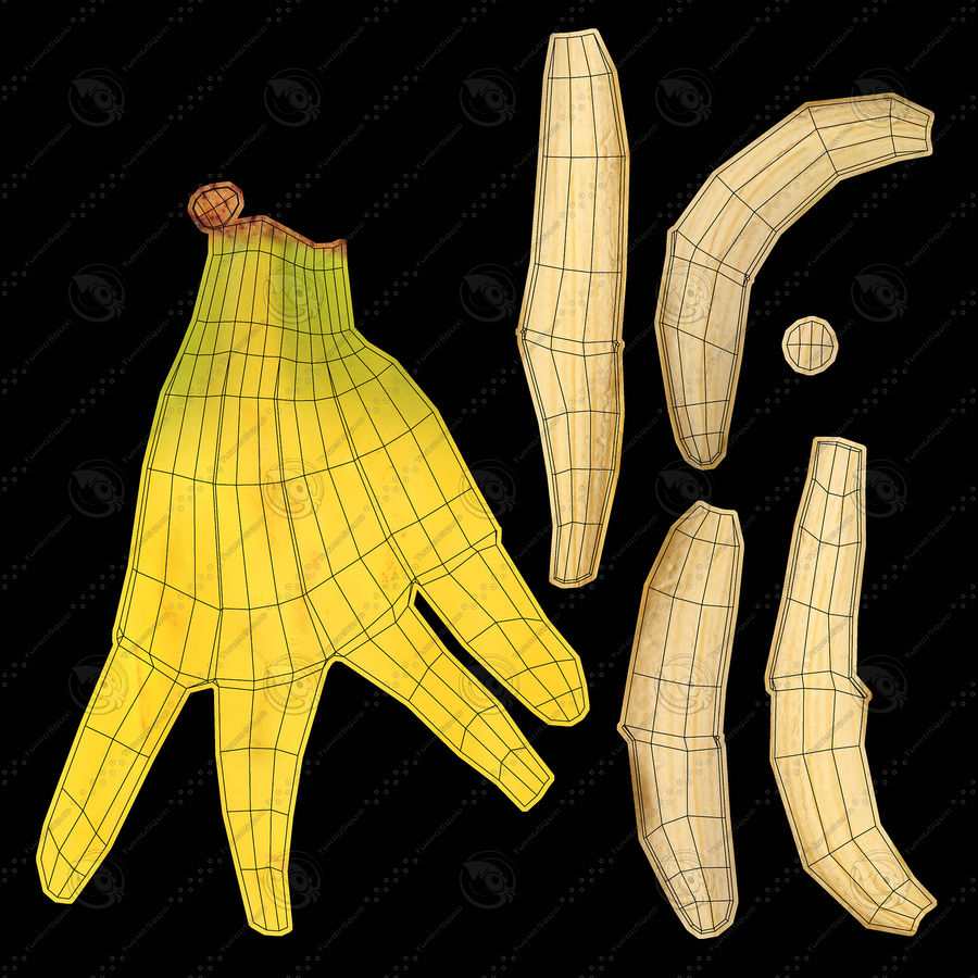 Banana Peels royalty-free 3d model - Preview no. 17
