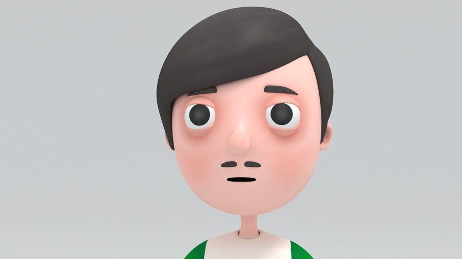 Homme de bande dessinée royalty-free 3d model - Preview no. 2