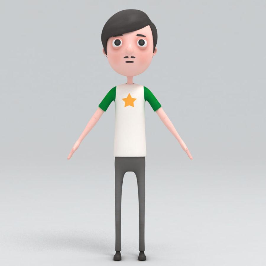 Homme de bande dessinée royalty-free 3d model - Preview no. 1