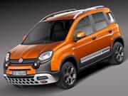 Fiat Panda Cross Country 2014 3d model