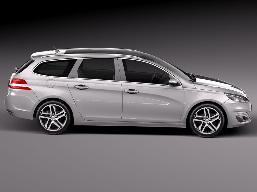 Peugeot 308 SW 2014 royalty-free 3d model - Preview no. 7