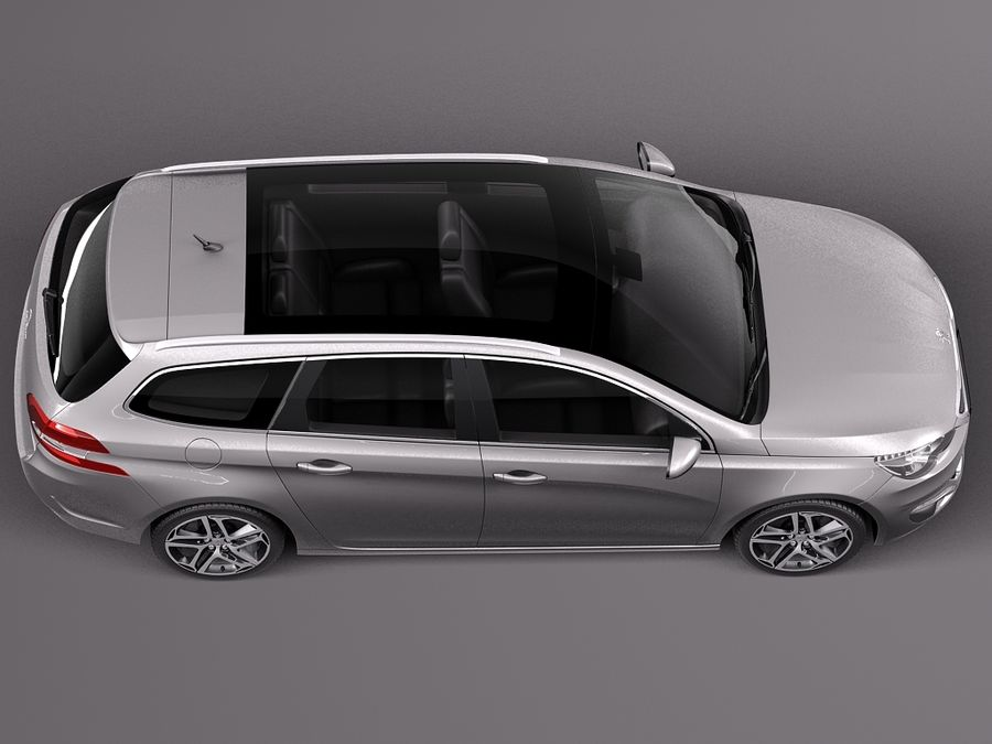 Peugeot 308 SW 2014 royalty-free 3d model - Preview no. 8