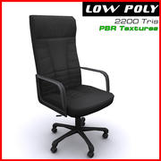 Arm chair boss black 3d model