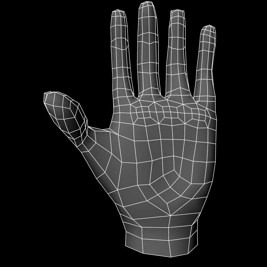 Hand Base UV Unwrapped royalty-free 3d model - Preview no. 13