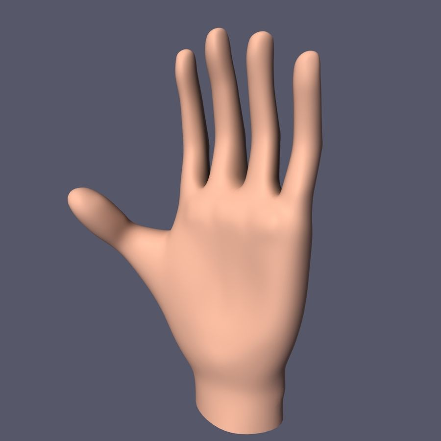 Hand Base UV Unwrapped royalty-free 3d model - Preview no. 3