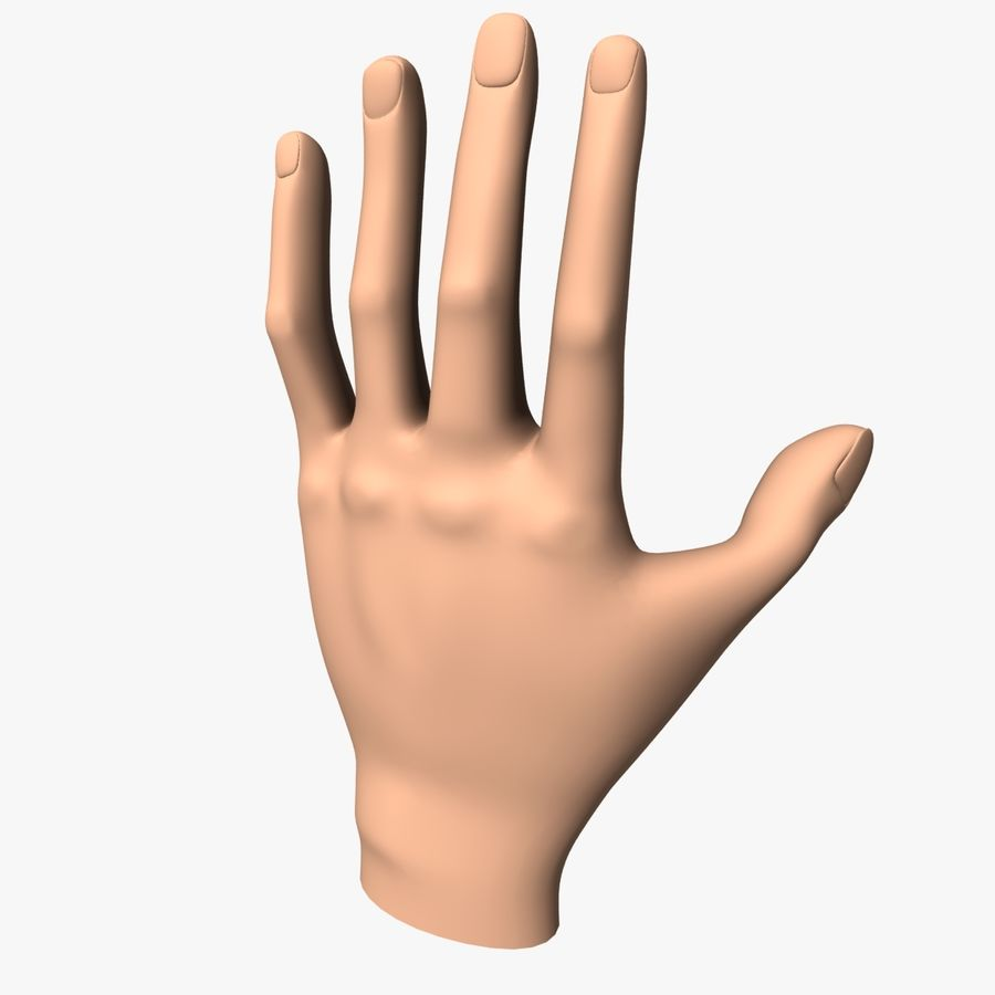 Hand Base UV Unwrapped royalty-free 3d model - Preview no. 1