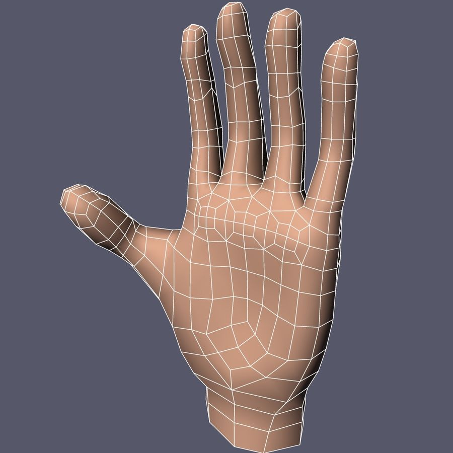 Hand Base UV Unwrapped royalty-free 3d model - Preview no. 8