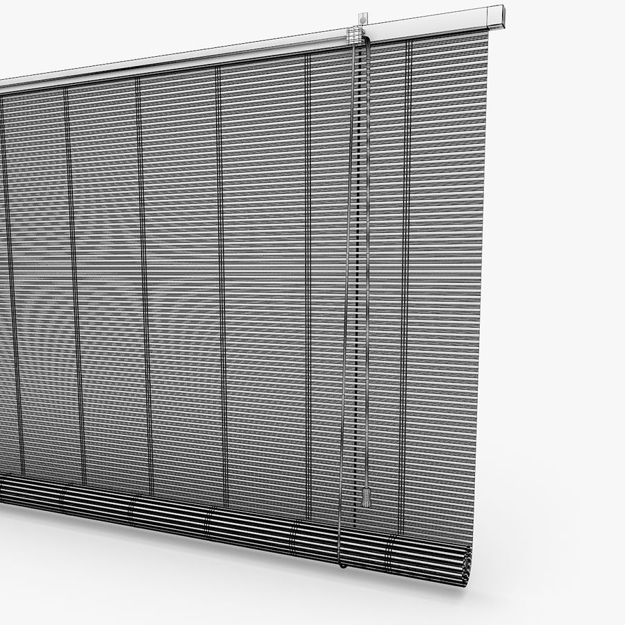 Bamboo Blinds royalty-free 3d model - Preview no. 6