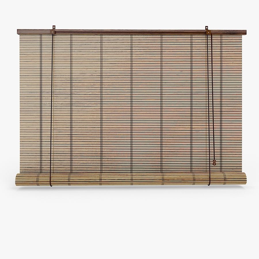 Bamboo Blinds royalty-free 3d model - Preview no. 2