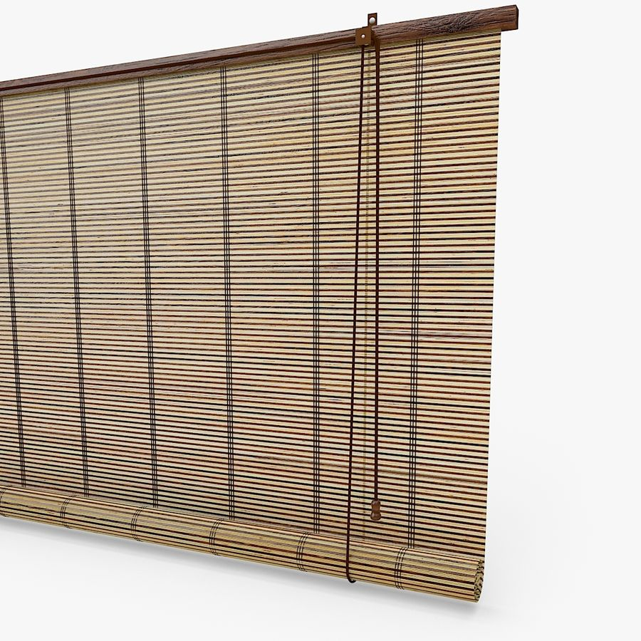 Bamboo Blinds royalty-free 3d model - Preview no. 3