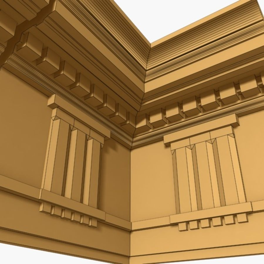 Cornice Molding 037 royalty-free 3d model - Preview no. 5