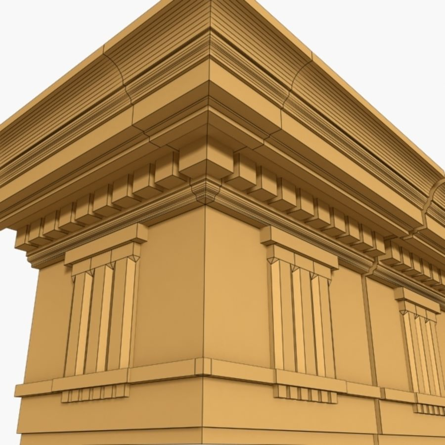 Cornice Molding 037 royalty-free 3d model - Preview no. 6