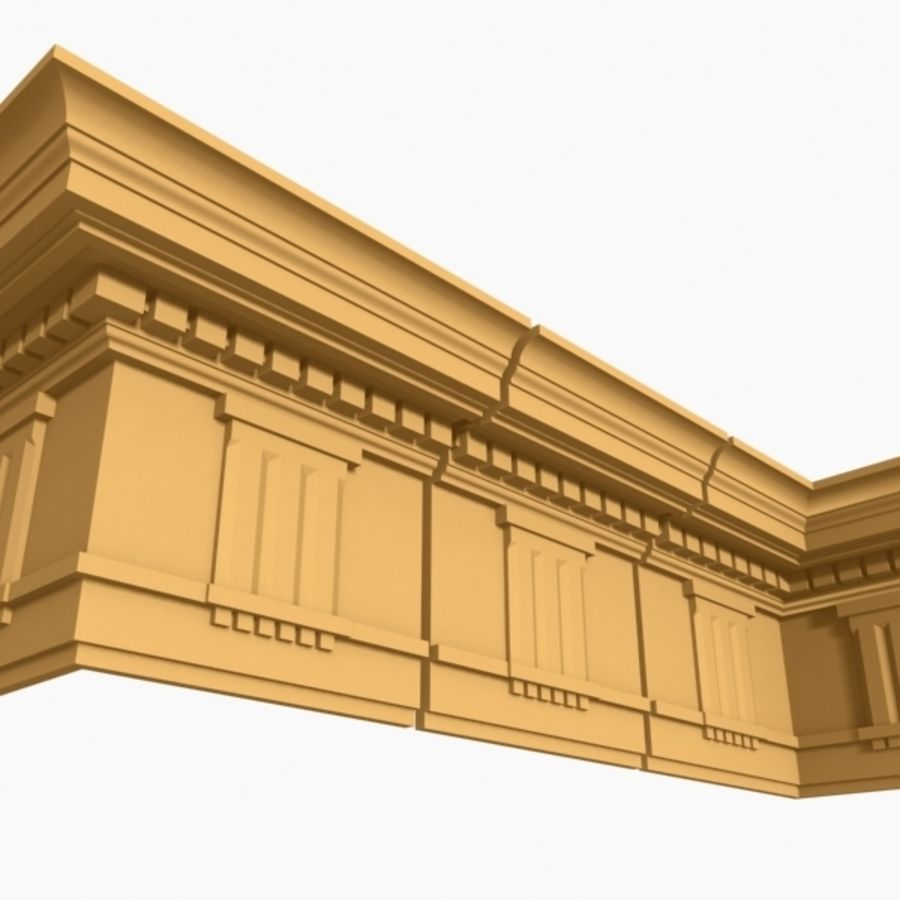 Cornice Molding 037 royalty-free 3d model - Preview no. 2
