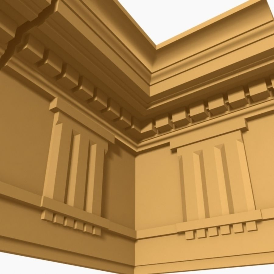Cornice Molding 037 royalty-free 3d model - Preview no. 7