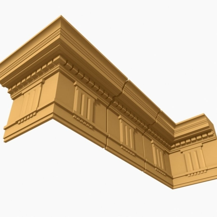 Cornice Molding 037 royalty-free 3d model - Preview no. 4