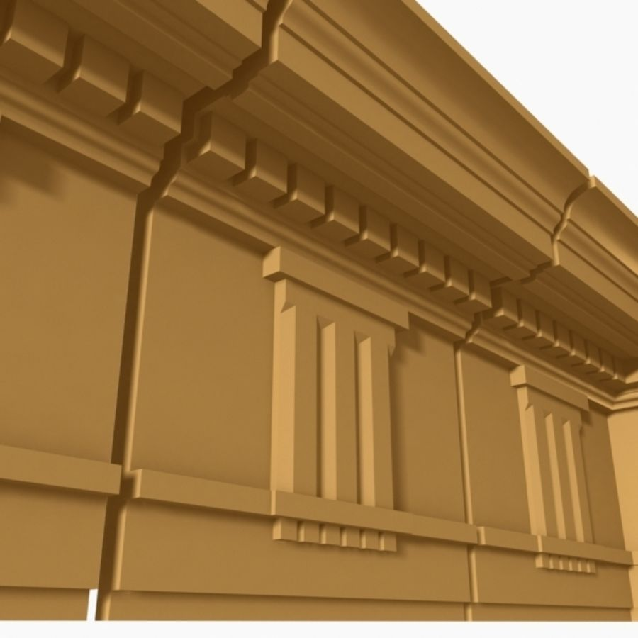 Cornice Molding 037 royalty-free 3d model - Preview no. 3