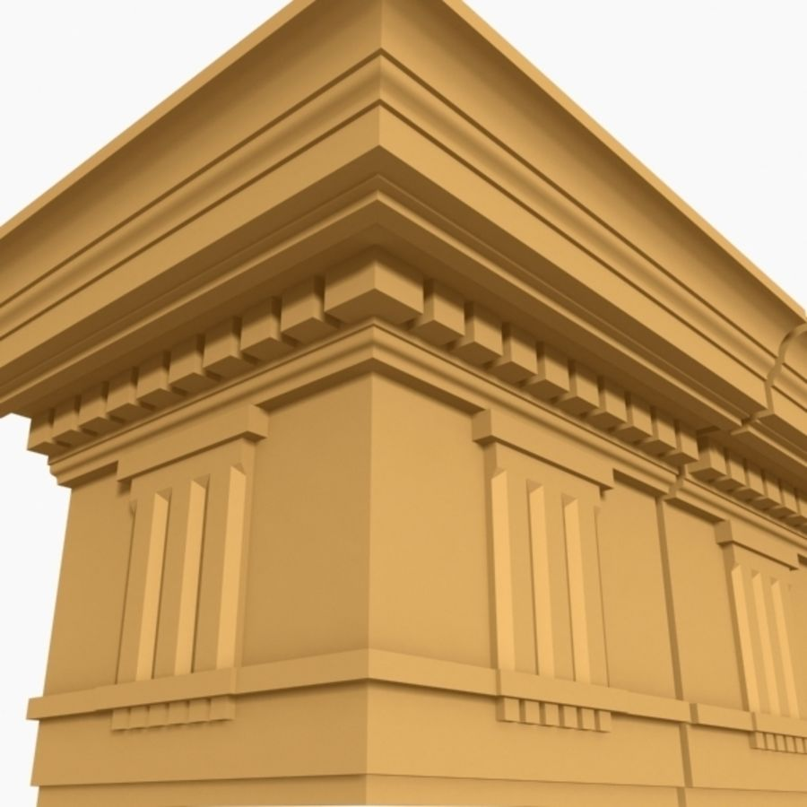 Cornice Molding 037 royalty-free 3d model - Preview no. 1