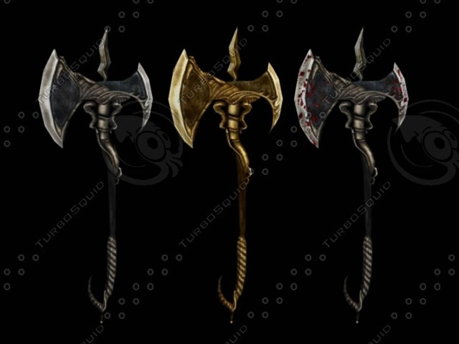 Battle Axe royalty-free 3d model - Preview no. 1
