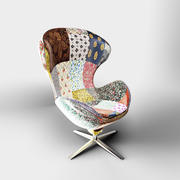 kare design Swivel Chair Lounge Flower Surprise 3d model