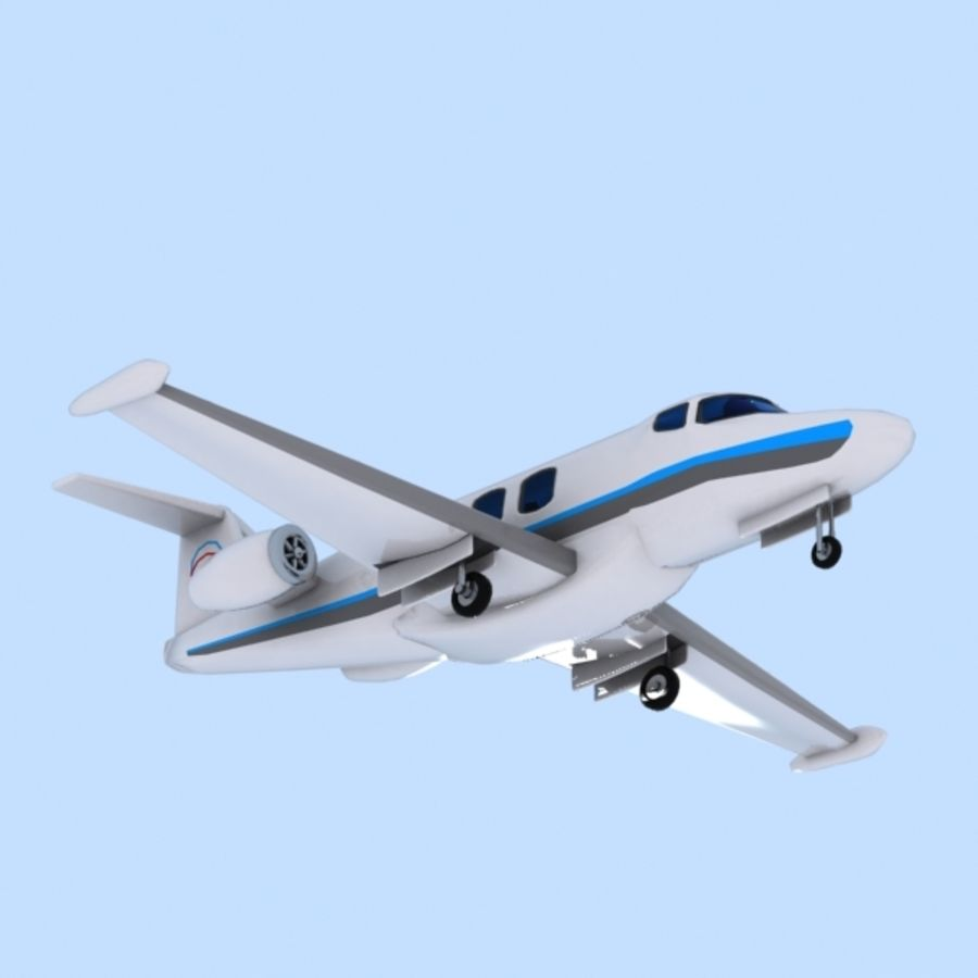 Cartoon Private Jet royalty-free 3d model - Preview no. 6