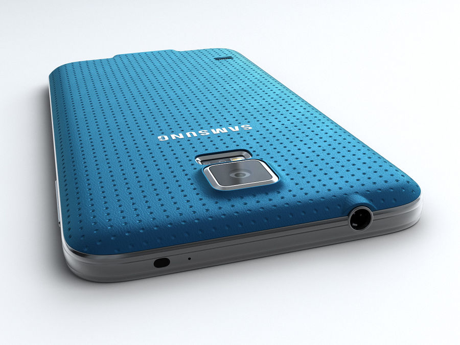 Samsung GALAXY S5 royalty-free 3d model - Preview no. 7