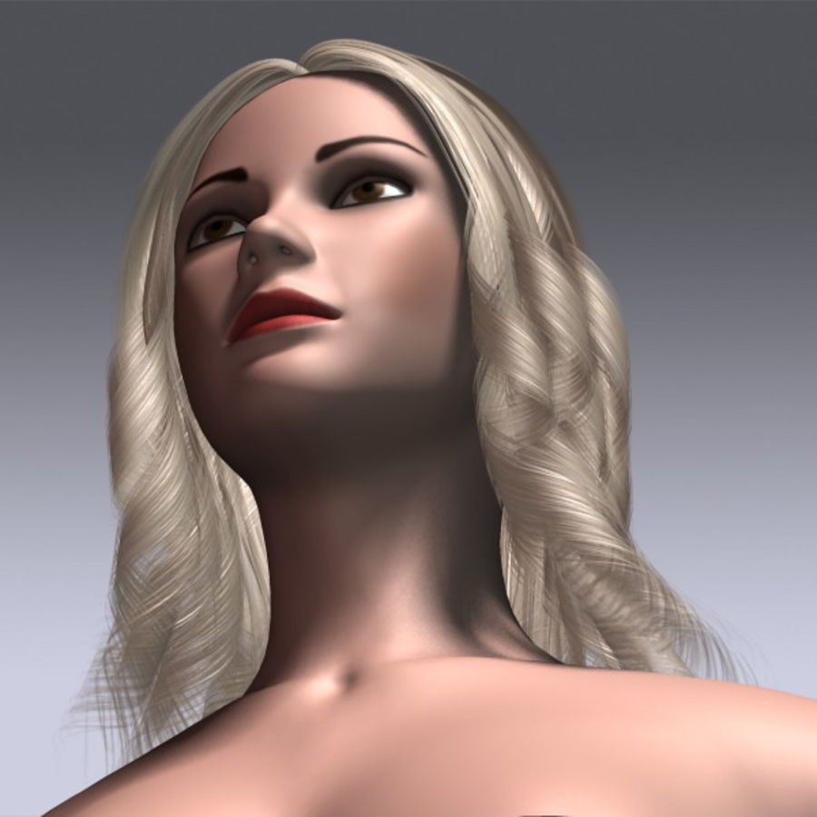 Susan Hair royalty-free 3d model - Preview no. 12