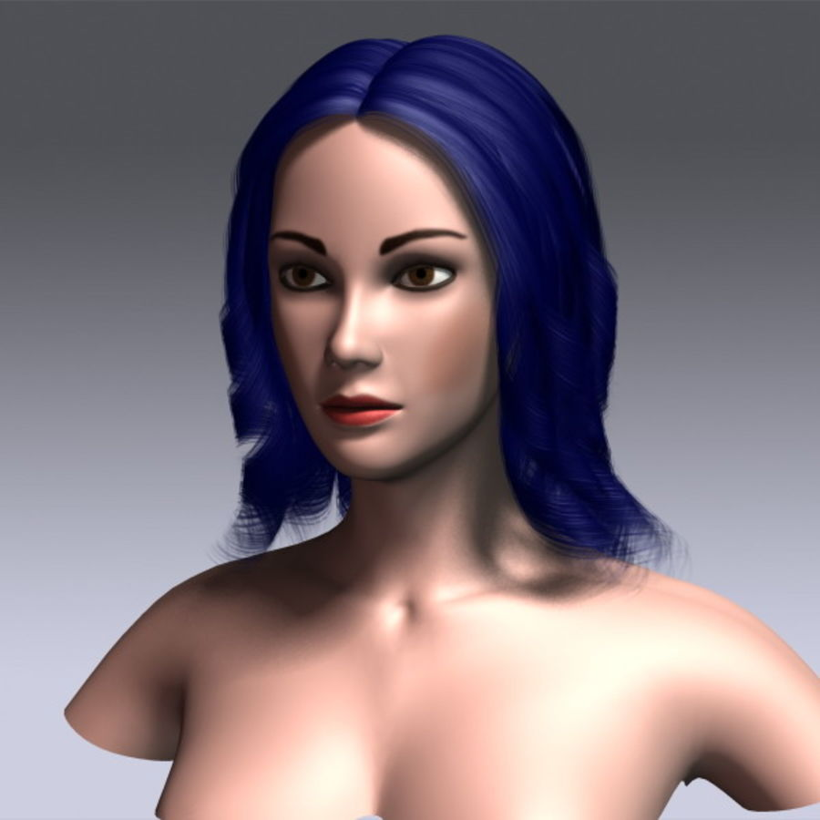 Susan Hair royalty-free 3d model - Preview no. 16