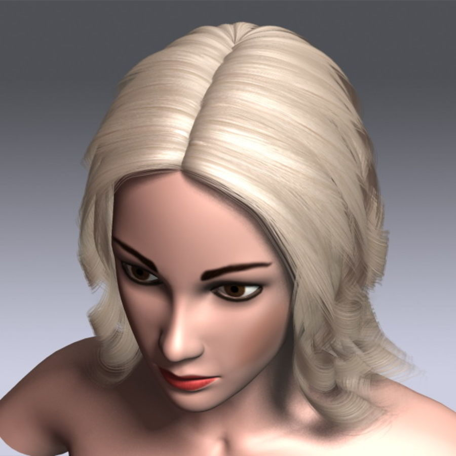 Susan Hair royalty-free 3d model - Preview no. 11