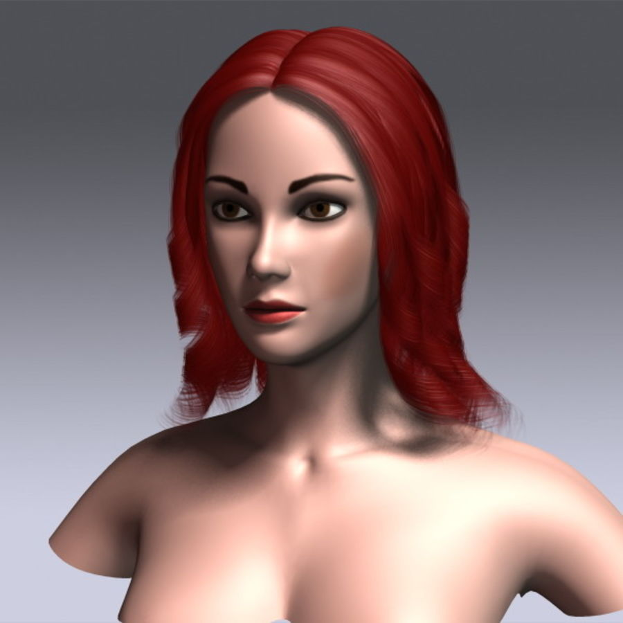 Susan Hair royalty-free 3d model - Preview no. 15