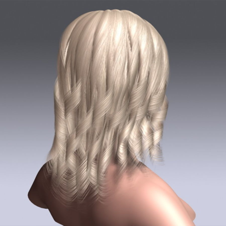 Susan Hair royalty-free 3d model - Preview no. 7
