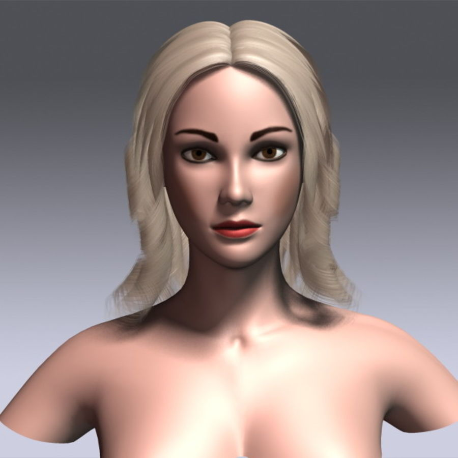 Susan Hair royalty-free 3d model - Preview no. 4