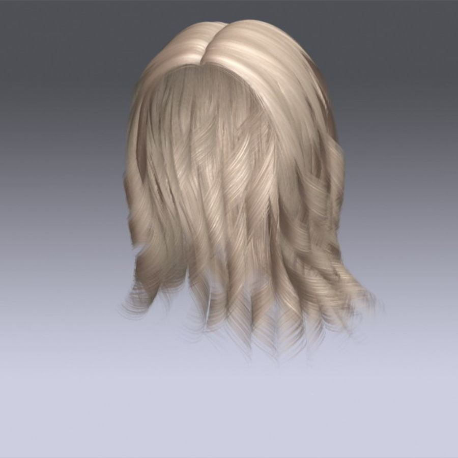 Susan Hair royalty-free 3d model - Preview no. 2