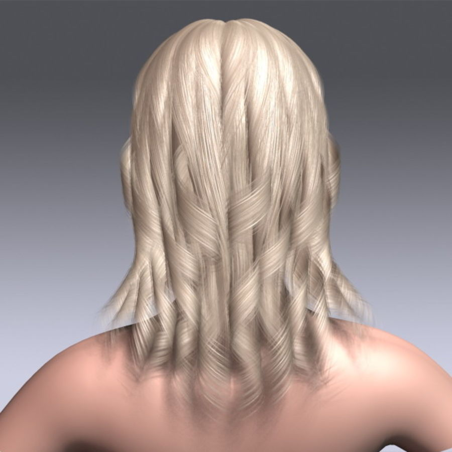 Susan Hair royalty-free 3d model - Preview no. 8