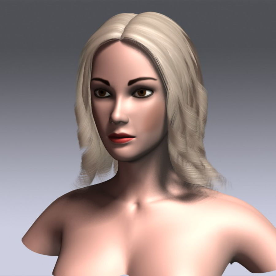 Susan Hair royalty-free 3d model - Preview no. 3