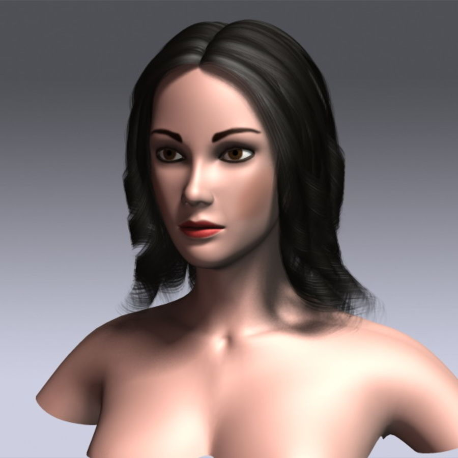 Susan Hair royalty-free 3d model - Preview no. 13