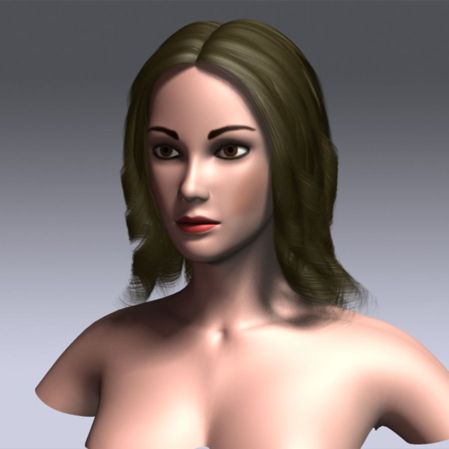 Susan Hair royalty-free 3d model - Preview no. 14