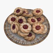 Plates & Cookies 3d model