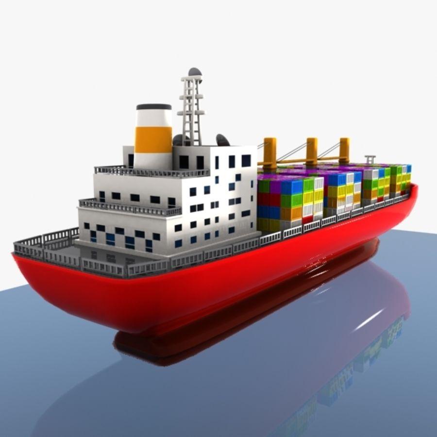 Cartoon Cargo Ship royalty-free 3d model - Preview no. 5