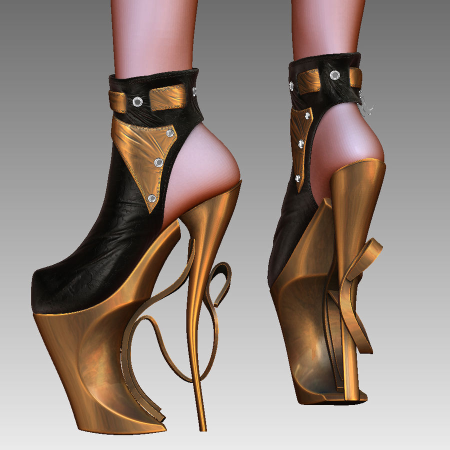 f0078d9a48a1 inferno high heels shoe royalty-free 3d model - Preview no. 6