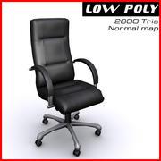 안락 의자 검은 크롬 3d model