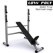 Trainer gym bänk 3d model