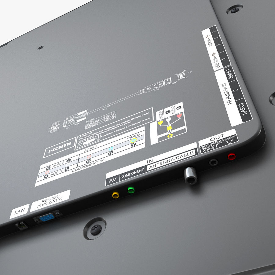 LG ULTRA HD SMART TV 65 inch 65LA970V royalty-free 3d model - Preview no. 14