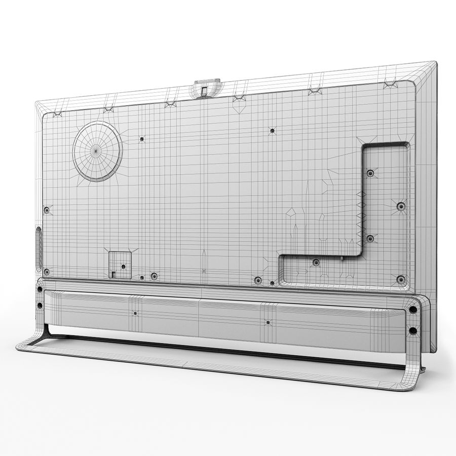 LG ULTRA HD SMART TV 65 inch 65LA970V royalty-free 3d model - Preview no. 19