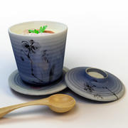 Japanese steamed Egg Custard 3d model
